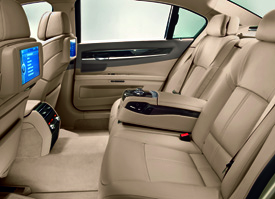 Rear Seats Of The BMW 730d LWB