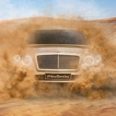 First image released of Bentley SUV.