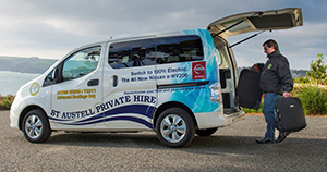 Cornwall private hire operator receives first all-electric Nissan